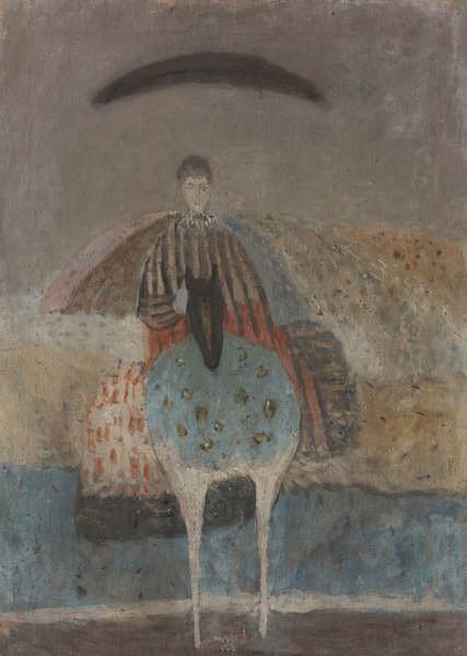 f - Antonio Zoran Music , 1909-2005 IDA À CHEVAL huile sur toile