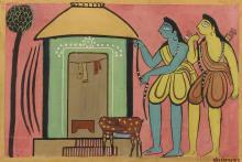 JAMINI ROY | Untitled (Rama and Lakshmana)