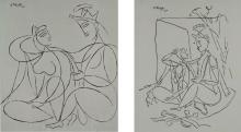 GEORGE KEYT | Untitled (Couple); Untitled (Couple with Jewelry)