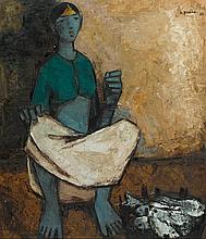 B. PRABHA | Untitled (Fisher woman)