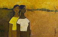 B. PRABHA | Untitled (Two Girls)