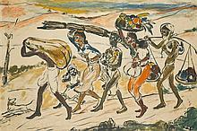 KRISHNAJI HOWLAJI ARA | Untitled (Figures in a Landscape)