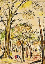 KRISHNAJI HOWLAJI ARA | Untitled (In the Woods)