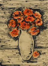 KRISHNAJI HOWLAJI ARA | Untitled (Vase with Red Flowers)