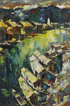 SAYED HAIDER RAZA | Untitled (Houseboats)