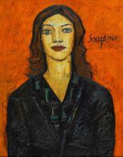 FRANCIS NEWTON SOUZA | Untitled (Portrait of a Lady)