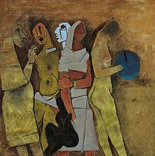 MAQBOOL FIDA HUSAIN | Untitled (Four Women)