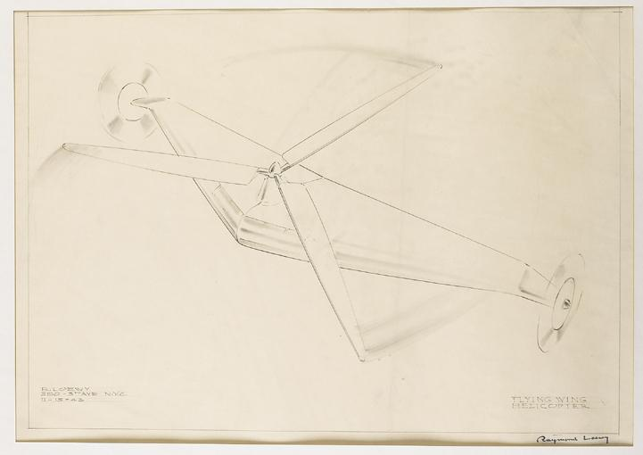 RAYMOND FERNAND LOEWY 1893-1986 FLYING WING HELICOPTER