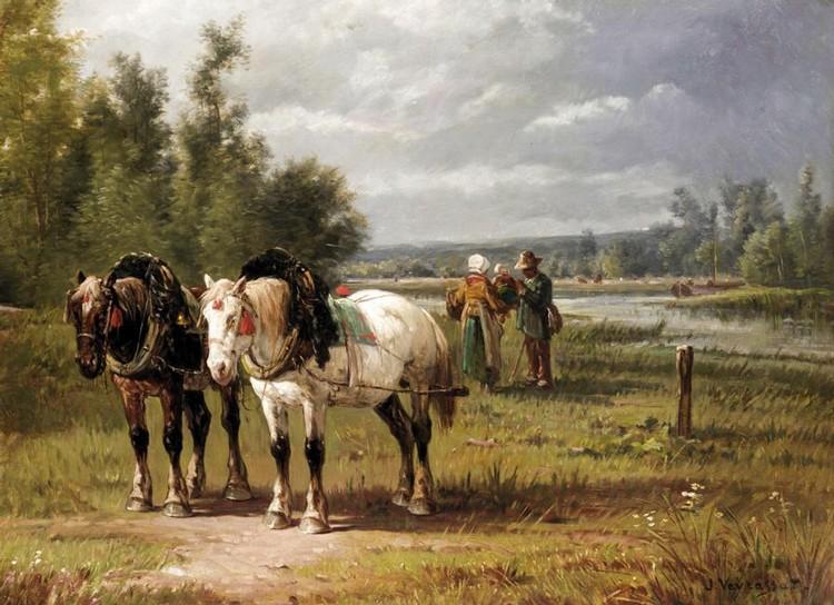 f - JULES-JACQUES VEYRASSAT, FRENCH PARIS 1828 - 1893