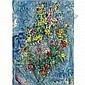 l - Marc Chagall , 1887-1985 Bouquet de printemps Oil on canvas, Marc Chagall, Click for value