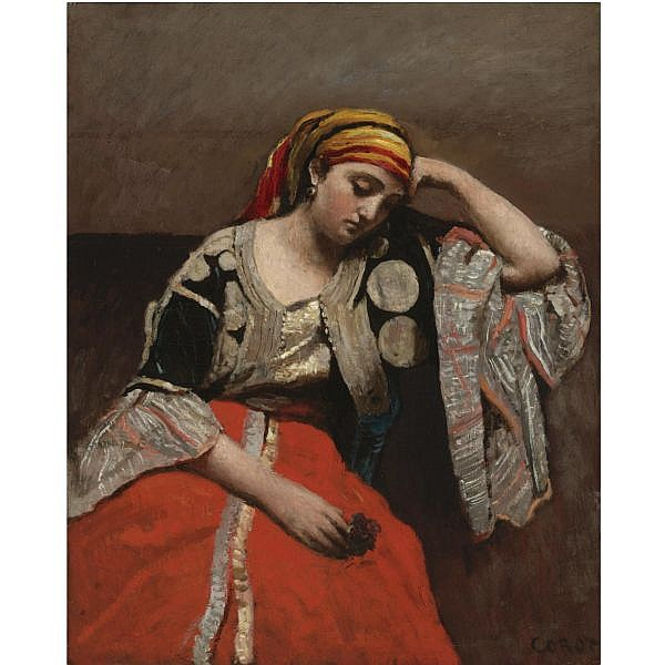 Jean-Baptiste-Camille Corot , 1796-1875 Juive d'Alger (l'Italienne) Oil on canvas
