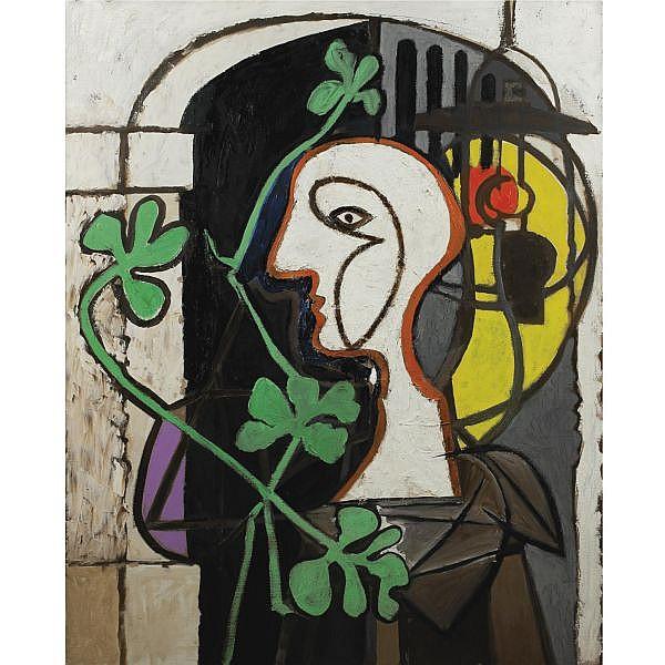 Pablo Picasso , 1881-1973 La Lampe Oil on canvas
