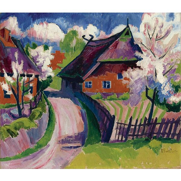 l - Hermann Max Pechstein , 1881-1955 FRÜHLING (SPRINGTIME) Oil on canvas