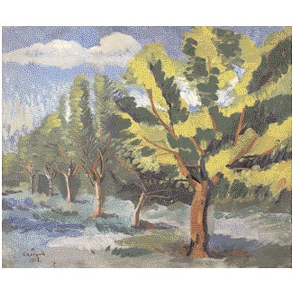 - Martiros Sergeevich Saryan , 1880-1972 trees oil on canvas