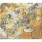 Natalia Sergeevna Goncharova , 1881-1962   Nature morte aux fruits oil on canvas     , Natalia Goncharova, Click for value