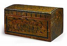 PAINT-DECORATED PINE DOME-TOP BOX, NEW ENGLAND, 1820 |