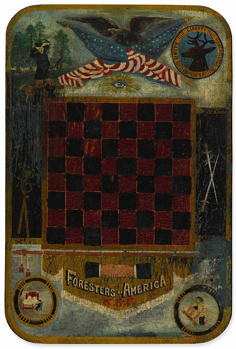AMERICAN GAMEBOARD, 19TH CENTURY  