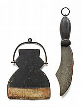 CARVED AND PAINTED WOOD TRADE SIGN FOR A CUTLERY SHOP, 19TH CENTURY | Painted Wood Trade Sign for a Cutlery Shop
