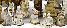 GROUP OF FOUR CHALKWARE CATS, AMERICAN, LATE 19TH OR EARLY 20TH CENTURY | Group of Four Chalkware Cats