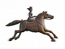 CAST-IRON TRADE FIGURE IN THE FORM OF A LADY ON HORSEBACK, CINCINNATI STOVE WORKS, LATE 19TH CENTURY |