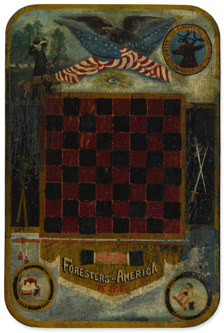AMERICAN GAMEBOARD, 19TH CENTURY |