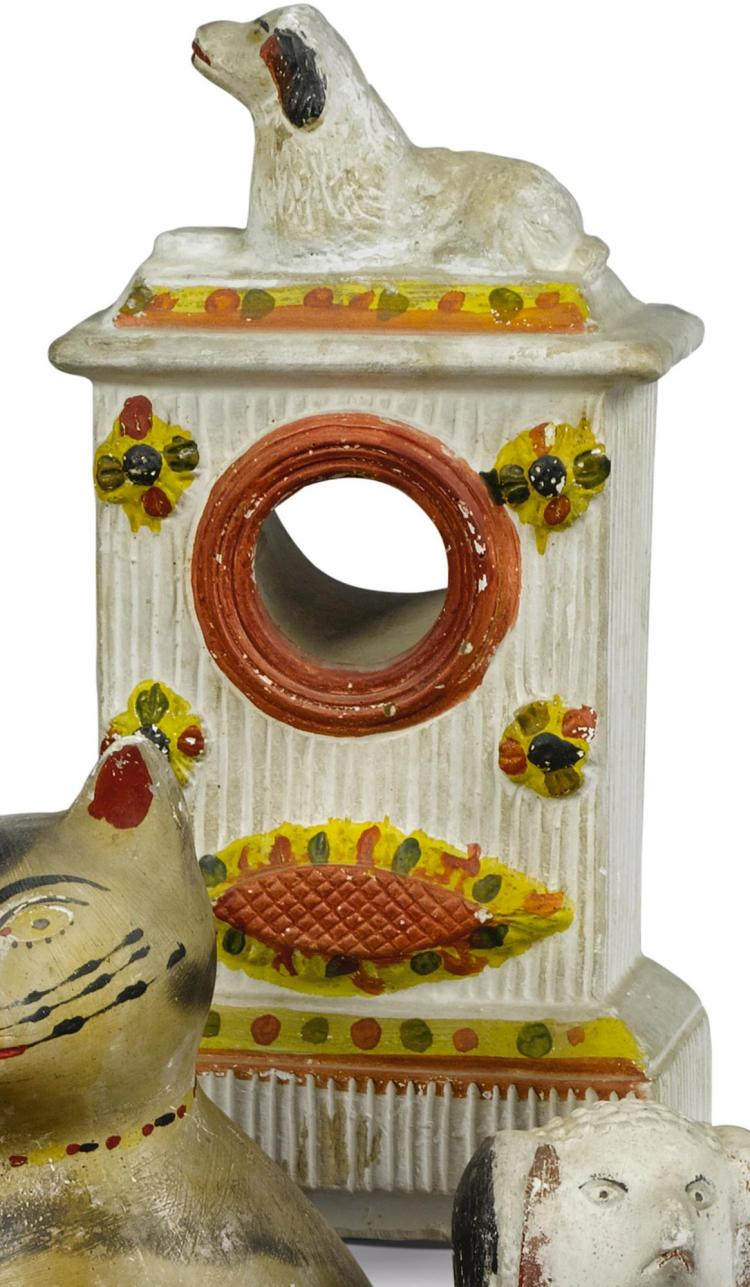 CHALKWARE WATCH HUTCH, AMERICAN, LATE 19TH OR EARLY 20TH CENTURY | Chalkware Watchstand