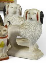 PAIR OF CHALKWARE STANDING POODLES, AMERICAN, LATE 19TH OR EARLY 20TH CENTURY | Pair of Chalkware Standing Poodles