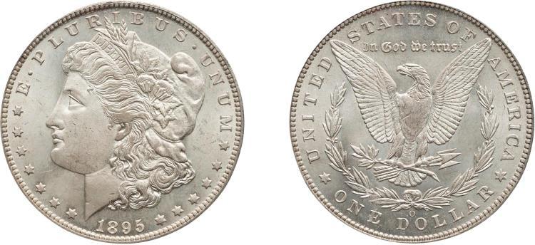 SILVER DOLLAR, 1895-O, PCGS MS 65
