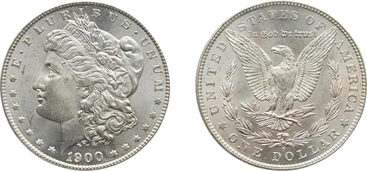 SILVER DOLLAR, 1900-S, PCGS MS 65 CAC
