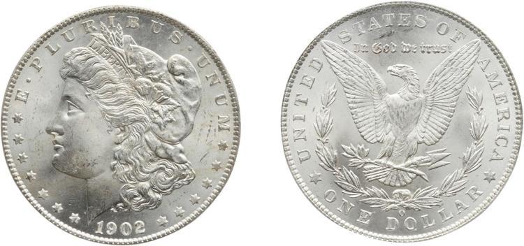 SILVER DOLLAR, 1902-O, PCGS MS 66 CAC