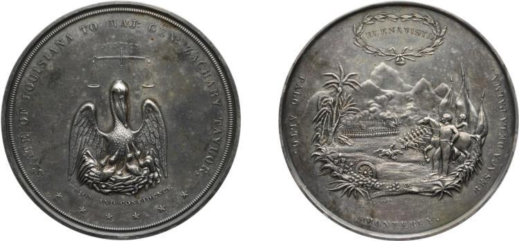 UNITED STATES, ZACHARY TAYLOR, BATTLE OF BUENA VISTA MEDAL, UNDATED [1847]
