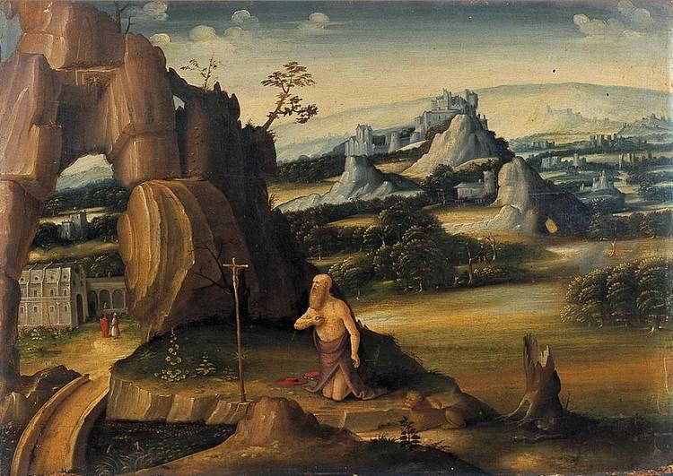 CERCHIA DI JOACHIM PATINIR DINANT O BOUVIGNES 1480 C.-PRIMA DEL 1524 ANVERSA