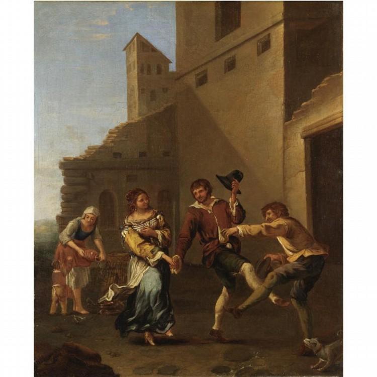 DIRK THEODOOR HELMBREKER HAARLEM 1633-1696 ROMA
