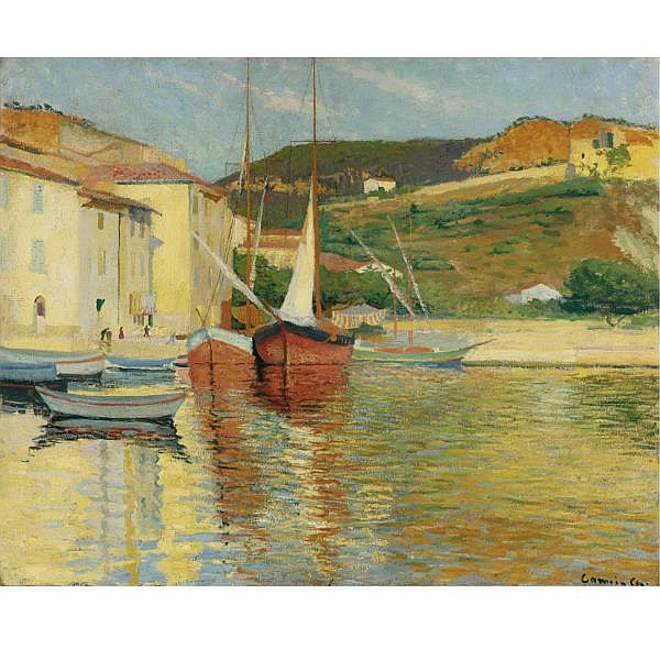 Charles Camoin , 1879-1965 TARTANE ROUGE À CASSIS Oil on canvas