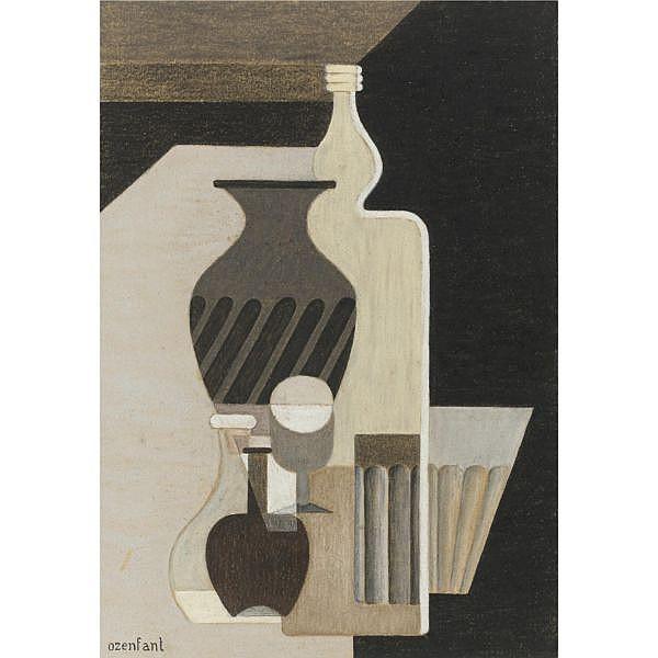 Amédée Ozenfant , 1886-1966 Nature morte à la bouteille Pastel on paper