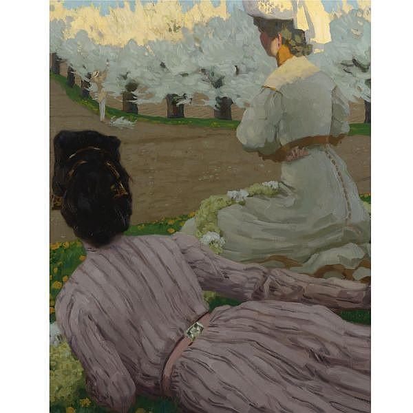 Reinhold Max Eichler , 1872-1947 Printemps Oil on canvas