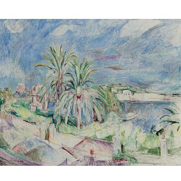 Hans Purrmann , 1880-1966 Vue du port d'Ischia Oil on canvas