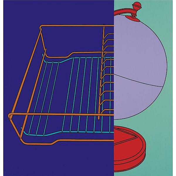 Michael Craig-Martin , b. 1941 Untitled (Drainer/Globe) acrylic on aluminium