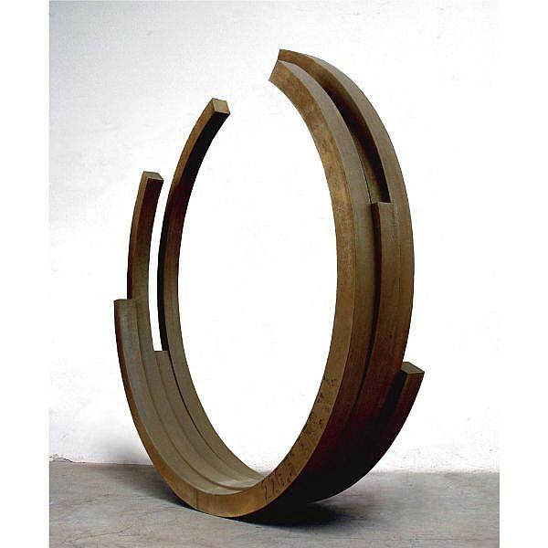 Bernar Venet , b. 1941 226.5º Arc x 4 rolled steel