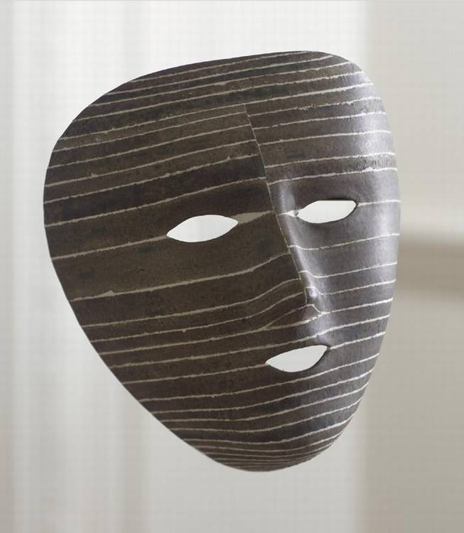 ROBERT COURTRIGHT B. 1926 BLACK UMBER MASK- II