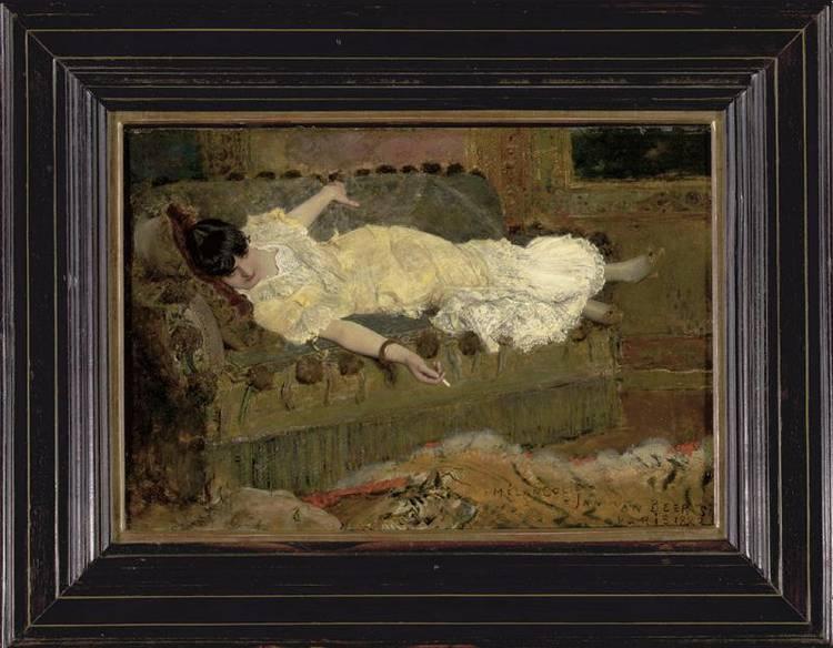JAN VAN BEERS BELGIAN 1852-1927 MELANCOLIE