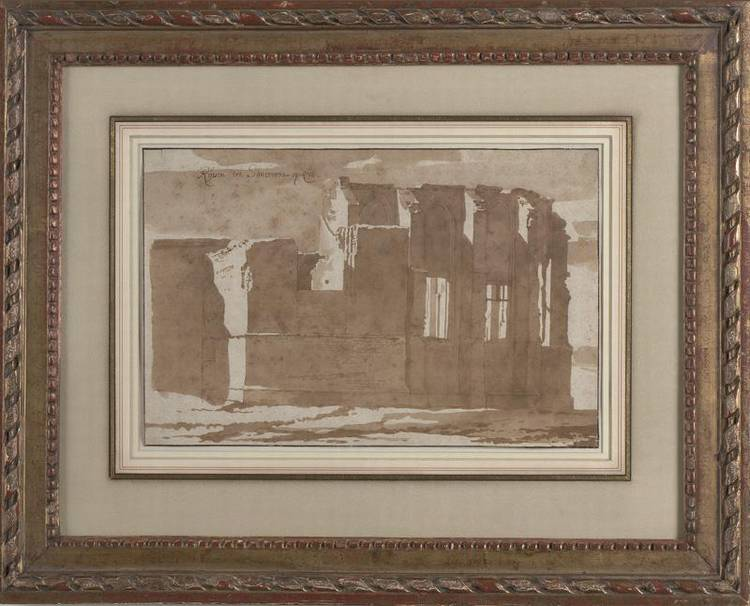 * JACOB VAN DER ULFT 1627-1689 THE RUINS OF A CHURCH NEAR SANTVOORT