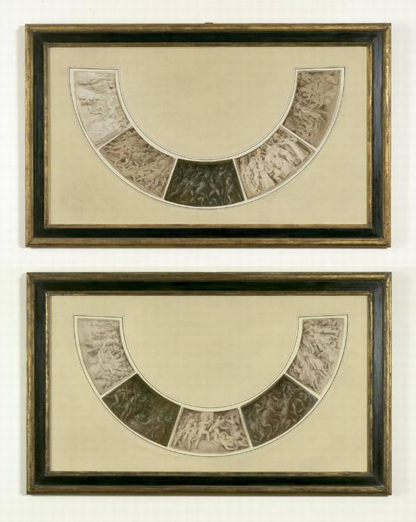 * THOMAS STOTHARD R.A. 1755-1834 DESIGNS FOR THE OUTER COMPARTMENTS OF THE WELLINGTON SHIELD: TEN DRAWINGS