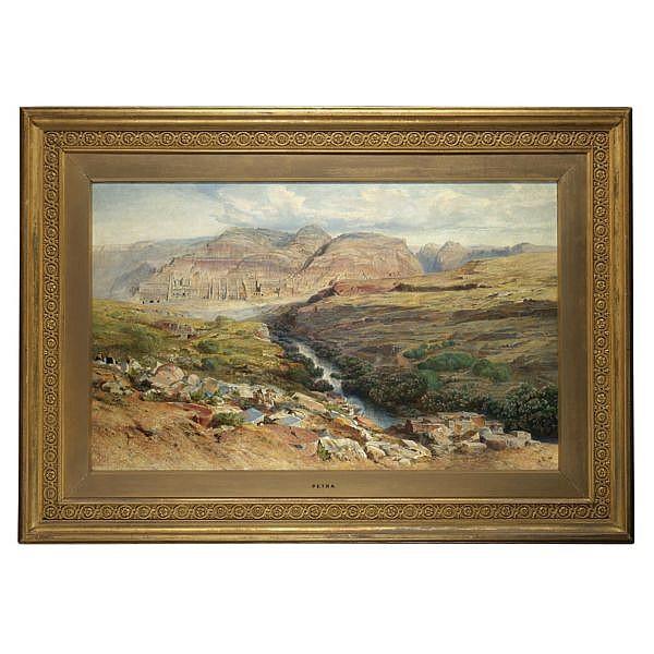 Edward Lear 1812-1888 , Petra oil on canvas