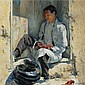 Walter Ufer 1876 - 1936 , The Red Moccasins oil on canvas   , Walter Ufer, Click for value