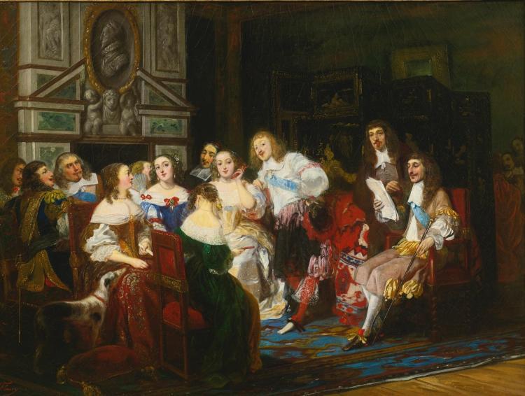 JOSEPH NICOLAS ROBERT-FLEURY | Une lecture chez Madame de Sevigne