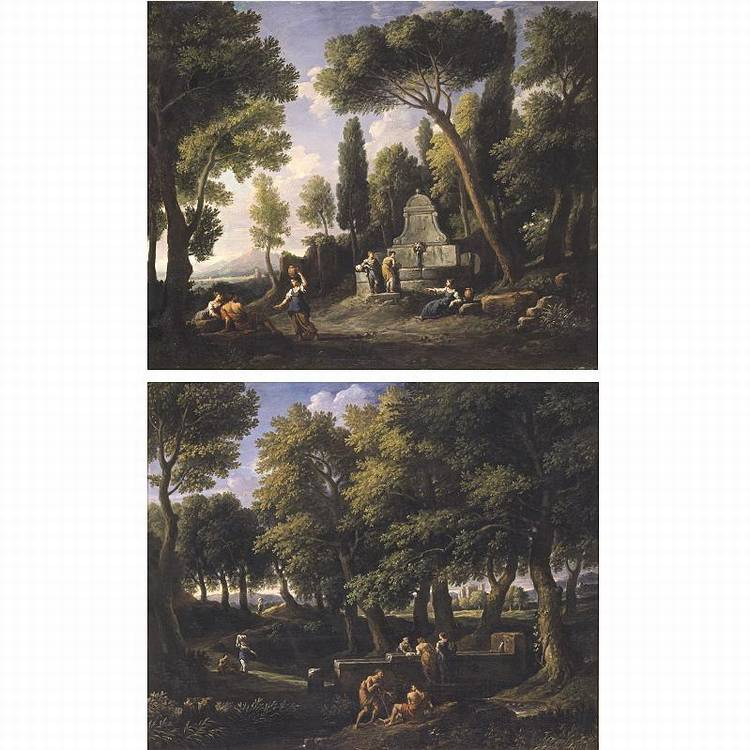 f - * JAN FRANS VAN BLOEMEN, CALLED L'ORIZZONTE CALLED ORIZZONTE ANTWERP BAPT 1662 - 1749 ROME