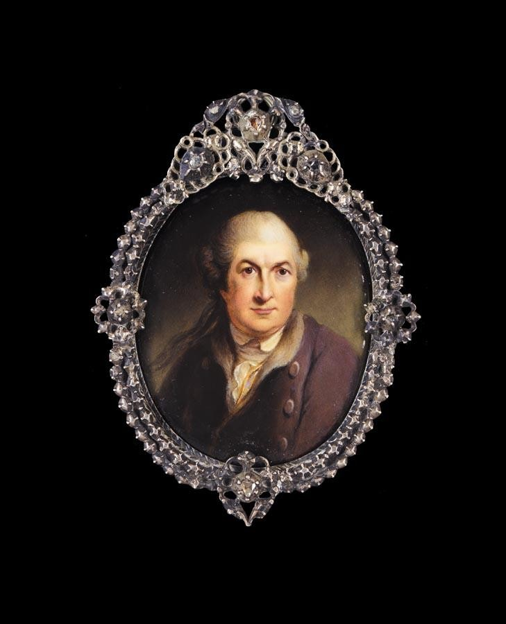 WILLIAM ESSEX 1784-1869 PORTRAIT OF DAVID GARRICK