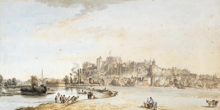 THE PROPERTY OF A LADY PAUL SANDBY, R.A. 1730-1809 VIEW OF WINDSOR CASTLE AND TOWN FROM THE