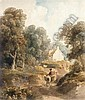 ANOTHER PROPERTY PETER DE WINT 1784-1849 A WOMAN ON A DONKEY RETURNING FROM MARKET, Peter DeWint, Click for value
